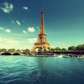 The morning of the Seine wallpaper